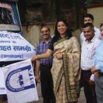 Flagging off C&S sponsored truck carrying relief material for calamity