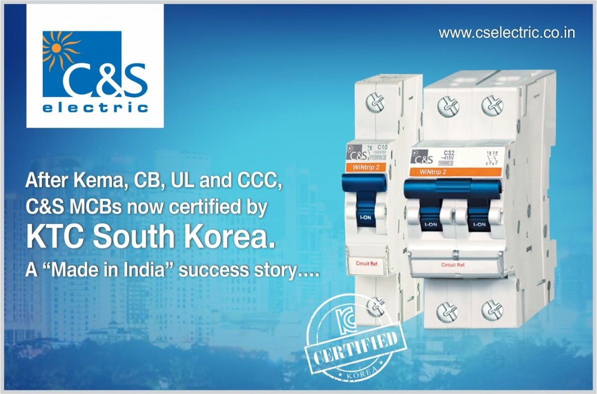 C&S MCBs now certified by KTC South Korea