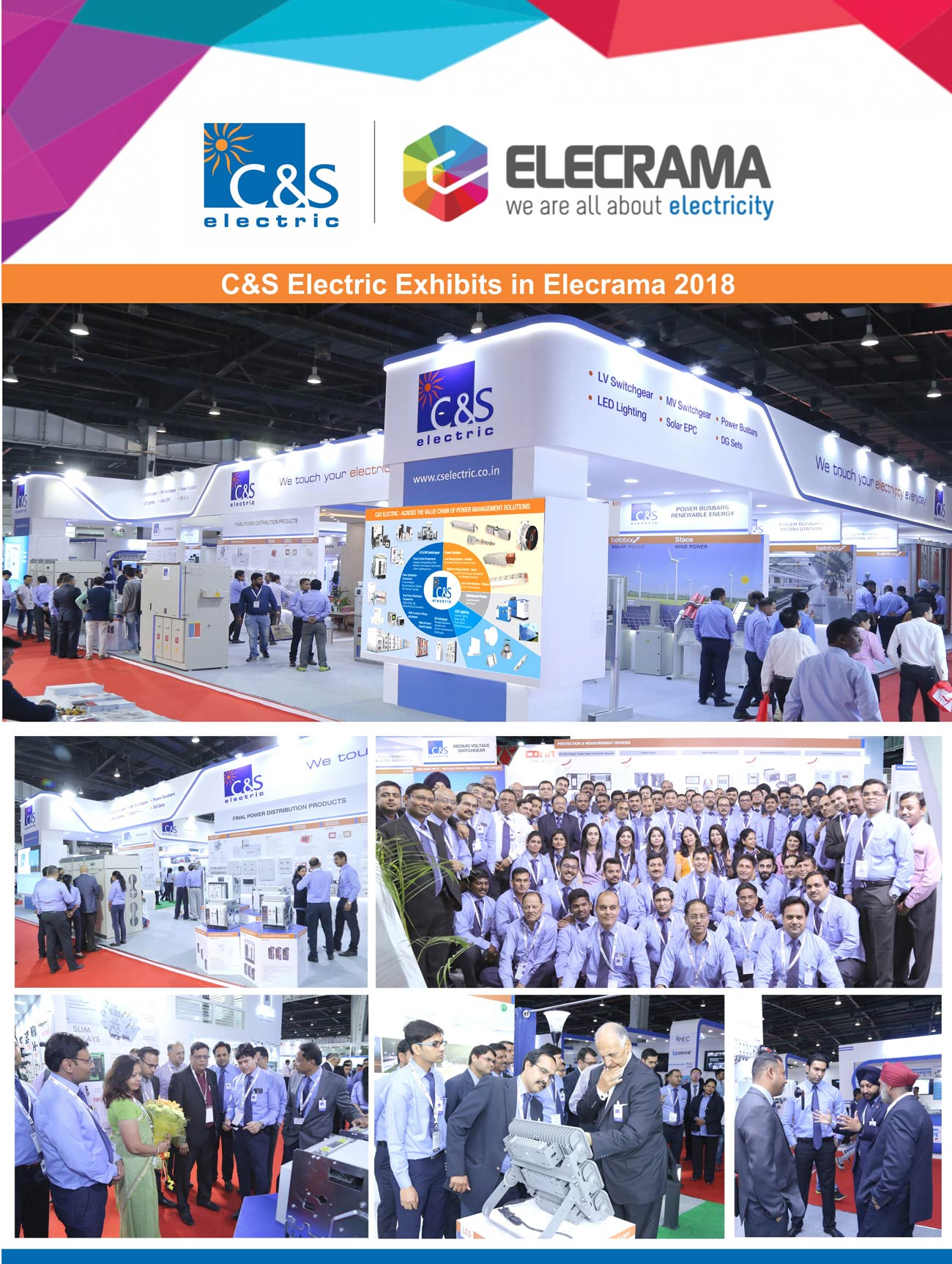 C&S Electric Exhibits in Elecrama 2018